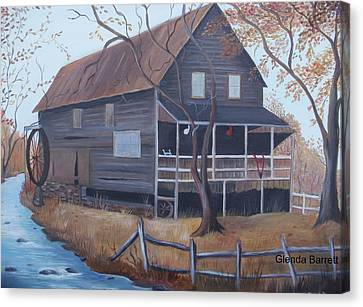 The Mill Canvas Print by Glenda Barrett
