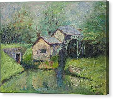 The Mill In The Mist Canvas Print by William Killen