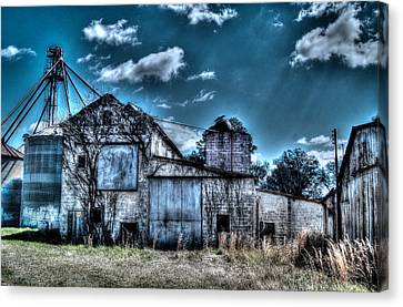 Feed Mill Canvas Print - The Mill by Mark Lindsey