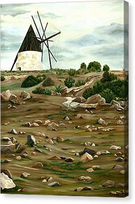 The Mill Canvas Print by Angeles M Pomata