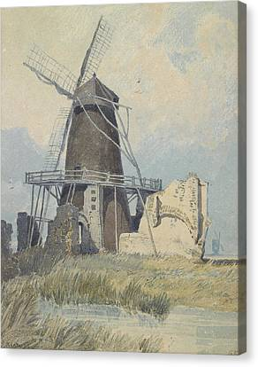 The Mill St Benet's Abbey Canvas Print by John Sell Cotman
