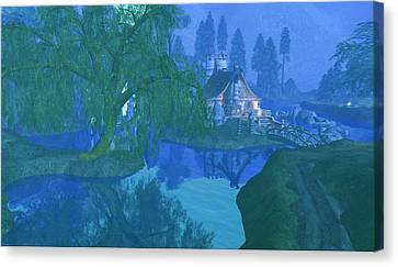 The Mill Stream Canvas Print by Amanda Holmes Tzafrir