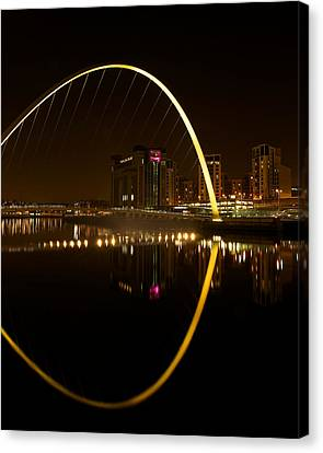 The Millenium Bridge At Night Canvas Print by Stephen Taylor