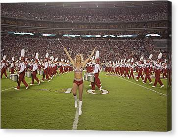 Marching Band Canvas Print - The Million Dollar Marching Band Of The University Of Alabama by Mountain Dreams