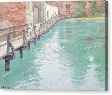 The Mills At Montreuil Sur Mer Normandy Canvas Print by Fritz Thaulow