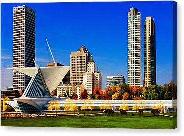 Unique View Canvas Print - The Milwaukee Art Museum by Jack Zulli
