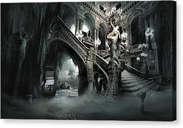 Surrealist Canvas Print - The Mind Cave by George Grie