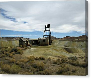 Canvas Print featuring the photograph The Mine by Marilyn Diaz
