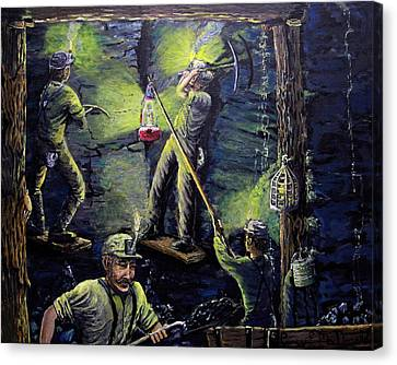 The Miners Way Canvas Print