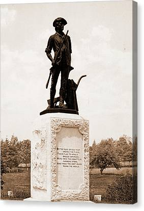 The Minute Man, Concord, Monuments & Memorials, Minutemen Canvas Print by Litz Collection