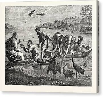 The Miraculous Draught Of Fishes Canvas Print by English School