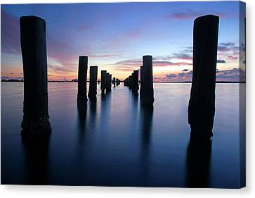 The Missing Pier At Sunset Canvas Print