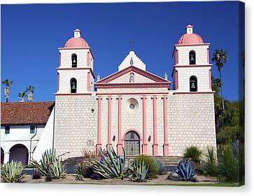 The Mission At Santa Barbara California Canvas Print by Barbara Snyder