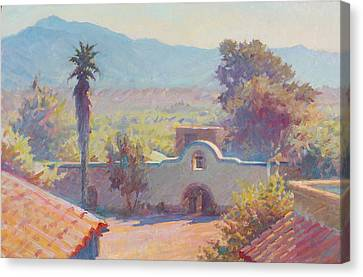 The Mission At Tubac Canvas Print by Ernest Principato