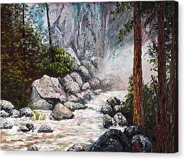 The Mist At Bridalveil Falls Canvas Print by Darice Machel McGuire