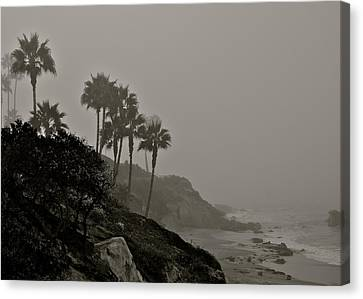 The Mists Of Laguna Beach Canvas Print by Kirsten Giving