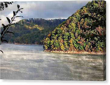The Mists Of Watauga Canvas Print by Tom Culver