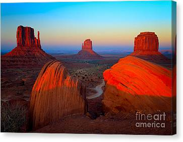 Monument Valley Canvas Print - The Mittens by Inge Johnsson