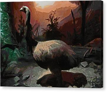 The Moa Canvas Print by Steve Taylor