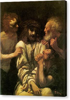 The Mocking Of Christ Canvas Print by Paul-Gustave Dore