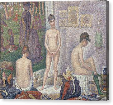 The Models Canvas Print by Georges Pierre Seurat