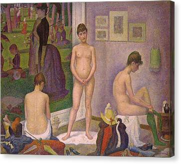 The Models Canvas Print by Georges Seurat