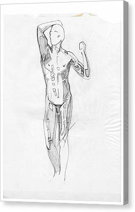The Modern Age - Homage Rodin Canvas Print