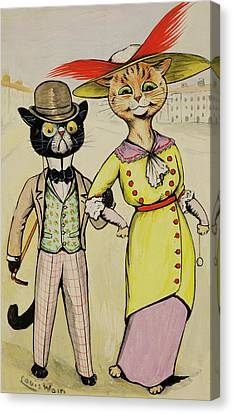 The Modern Arry And Arriet Canvas Print by Louis Wain