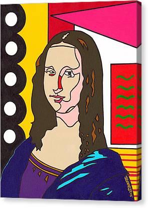 The Mona Canvas Print by Jeff Gomez