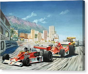 The Monaco Grand Prix Canvas Print by English School