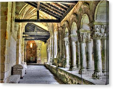 The Monastery Corridors Canvas Print by Ines Bolasini