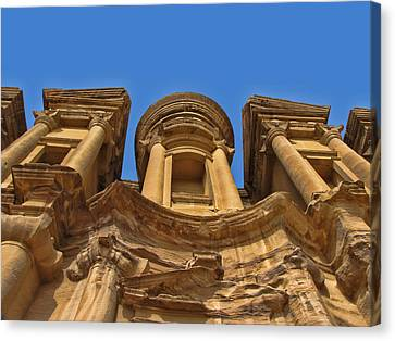Canvas Print featuring the photograph The Monastery In Petra by David Gleeson