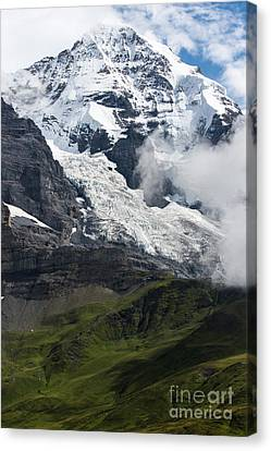 The Monk - Swiss Bernese Alps Canvas Print by Gary Whitton