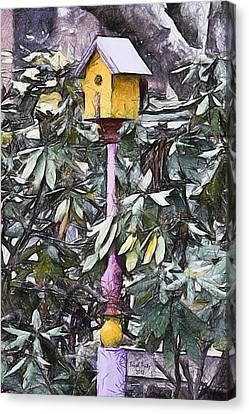 The Monkey's Garden Canvas Print by Trish Tritz