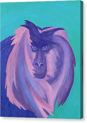 Canvas Print featuring the painting The Monkey's Mane by Margaret Saheed