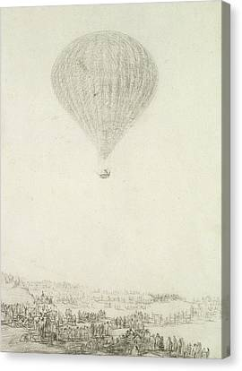 The Montgolfier Brothers Canvas Print by Goya