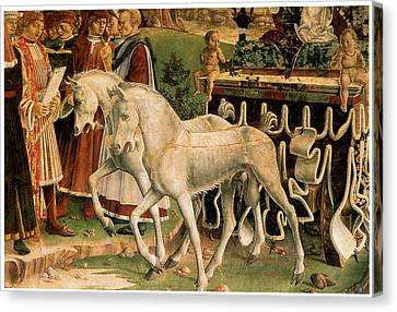 Horse And Cart Canvas Print - The Month Of March by Francesco Del Cossa