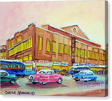 The Montreal Forum Canvas Print by Carole Spandau