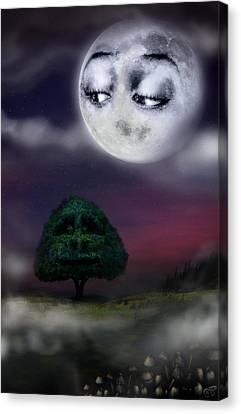 The Moon And The Tree Canvas Print by Alessandro Della Pietra
