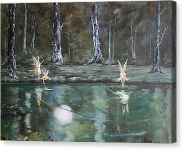 The Moon Fairies Canvas Print