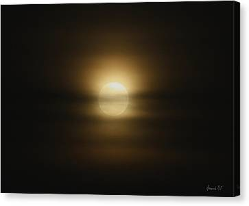 The Moon In June Canvas Print by Amanda Holmes Tzafrir