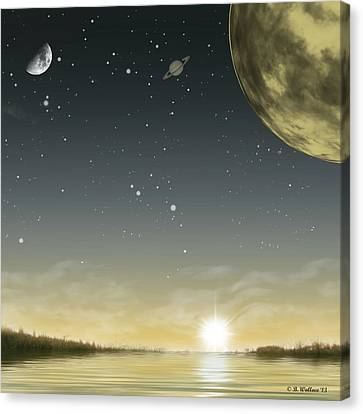 The Moon Lagoon Canvas Print by Brian Wallace