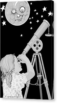 The Moon Looks Back Canvas Print by Carol Jacobs
