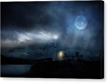 The Moon Touches Your Shoulder Canvas Print by Taylan Apukovska