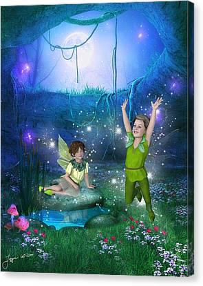 The Moonlight Fairies Canvas Print