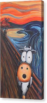 The Moooooo Canvas Print by Jennifer Alvarez
