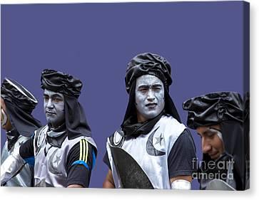 The Moors Prepare For Battle Canvas Print by Al Bourassa