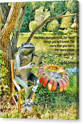 The More That You Read... Canvas Print by Jean Goodwin Brooks