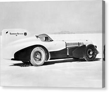 Land Feature Canvas Print - The Mormon Meteor Race Car by Underwood Archives