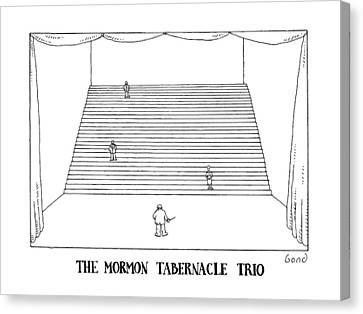 The Mormon Tabernacle Trio Canvas Print by Simon Bond